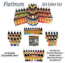 Eternal Tattoo Ink - Platinum Set - 2oz Bottle