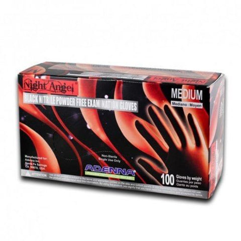 Box of Night Angel Black Nitrile Medical Gloves