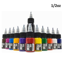 12 Color Mini Travel Set - Solid Ink - 1/2oz Bottles