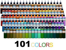 Intenze Tattoo Inks 101 Color Tattoo Ink Set - 1oz Bottles