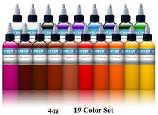 Basic 4oz Color Set - Intenze Tattoo Ink - 19 Bottles