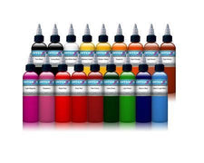 Dark Skin Set- Intenze Tattoo Ink - 18 Bottles - 4oz