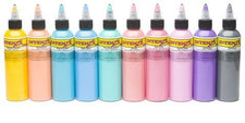 Pastel 2oz Color Set - Intenze Tattoo Ink - 10 Bottles