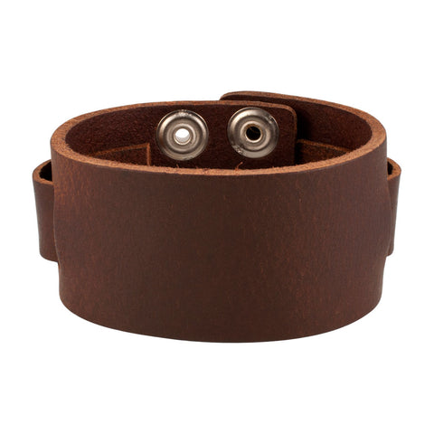 Vintage Brown Snap Wholesale Leather Cuff Bracelet