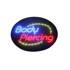 Animated BODY PIERCING LED Shop Sign Window or Wall