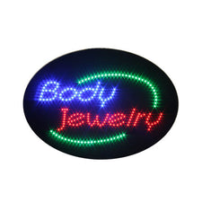 Animated BODY JEWELRY LED Shop Sign Window or Wall
