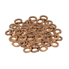 "#8 - LOT 100 Silicon Bronze Lock Washers  9/32"" OD 5/32"" ID"