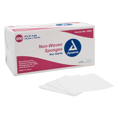 Dynarex Non-Woven Surgical Tattoo Cotton Non-Sterile Sponges