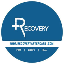 Recovery Aftercare Round Blue Sticker