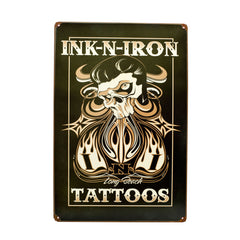 INK N IRON Festival Long Beach Tattoos Vintage Metal Steel Sign