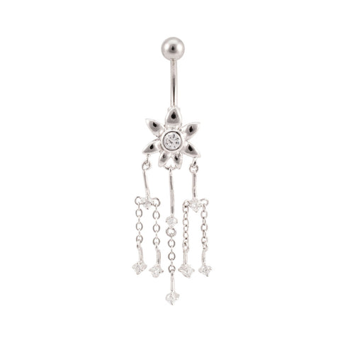 Spring Daisy Dangle Navel Ring