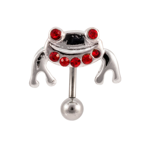 Happy Frog Reverse Design Belly Button Ring