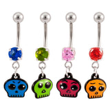 Ghoulish Ghost - Cute Skull Sexy Belly Button Ring