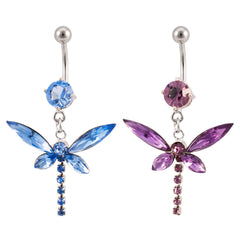 Butterfly Navel Belly Button Ring