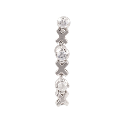 XOXO Jeweled Reverse Dangle Navel Ring