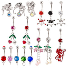 Lot of  25 | Generic | Assorted Naval Belly Rings 14 Gauge Barbells BB-1001