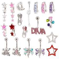 Lot of  25 | Generic | Assorted Belly Naval Rings 14G BB-1004