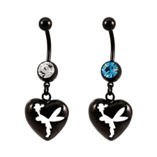 Black Titanium Anodized Fairy SHADOW Dangle Belly Ring