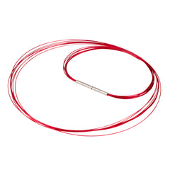7 Strand Colored Cable Necklace