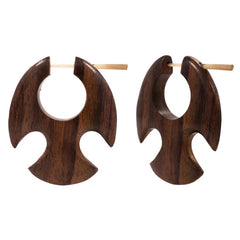 PAIR | Organic Sono Wood Indo Tribe Earrings