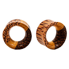 Three Wood Laminated Organic Earlet Tunnel | Plugs