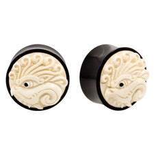 Eye of Zen Organic Horn and Bone Carved Plugs