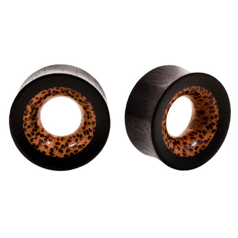 Fused Organic Coco & Areng Wood Tunnel Plugs
