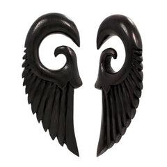 PAIR | Phoenix Areng Wood Organic Hanger Body Jewelry
