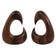 PAIR | Organic Exotic Sono Wood Tapered Plug Hangers