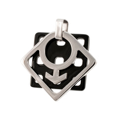 Honeycomb Male Mars Stainless Steel Pendant