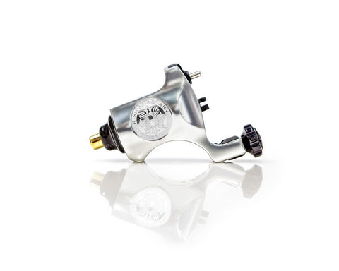 Bishop Rotary Tattoo Machine - RCA Model - Platinum Silver