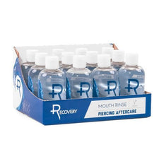 Recovery Aftercare Sea Salt Mouth Rinse - Alcohol Free Oral Piercing Aftercare - 8oz - Price Per Case
