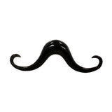 Black Horn Curved Pendleton Mustache Septum Piercing