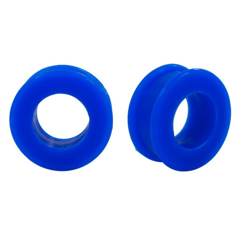 Flexible Earlets - Blue Flexi Silicone Ear Plugs Hollow Tunnels