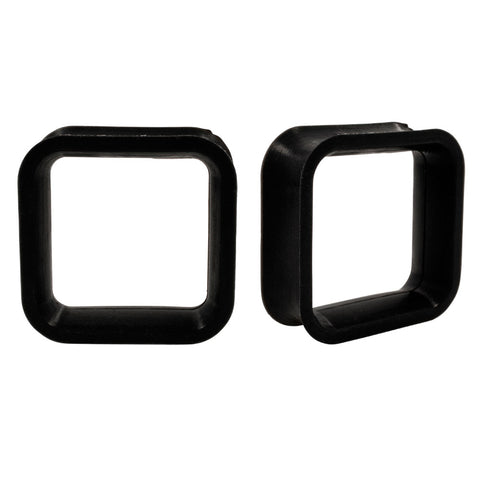 Black Square Flexible Earlets Silicone Ear Flexi Plugs