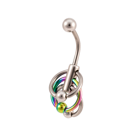 Surgical Steel Waterfall Design Navel Ring