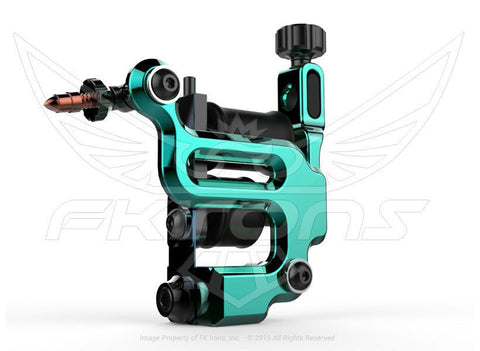 FK Irons AL13 Roswell Conventional Liner Seafoam Tattoo Machine