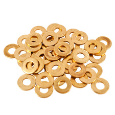 Lot 10 Pieces #8 3/8 Flat Brass Washers For Tattoo Gun & Supply