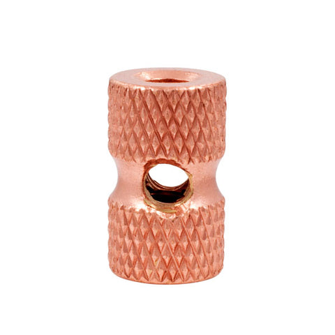 Ringmaster Irons Raw Knurled Copper Front Binding Post Tattoo Machine Lock Nut