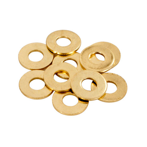 "Bag of 10 BRASS #8 Flat Washers Tattoo Machine 5/6"" USA MADE"