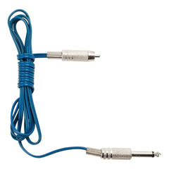 Lightweight Silicone RCA Cord Blue 5'