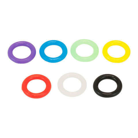 Premium Mixed Colors Silicone Gel O-Ring Package of 100