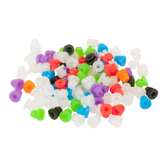 Bag of 100 24G Mixed Color Silicone Nipples