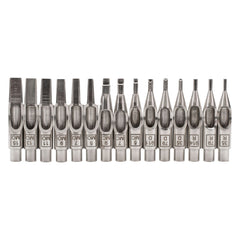 15pc Ruthless Precision Stainless Steel Tattoo Needle Tip Set