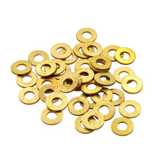 BAG of 50 BRASS #8 Washers for Tattoo Machine Custom Parts #C