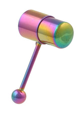 14 Gauge Rainbow Vibe Bell Bullet Vibrating Tongue Ring Barbell