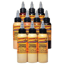 Eternal Tattoo Ink - Andrea Afferni Signature Series Portrait Set of 10 - 1/2oz Bottles