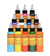 Eternal Tattoo Ink - Sample Color Set of 12 - 1/2oz Bottles