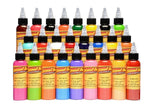 Eternal Tattoo Ink - Top 25 Color 1/2oz Set & Stencil Stuff 4oz. Transfer Formula