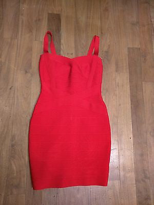 NWT Flattering Red Spaghetti Strap Bandage Dress Bodycon S Small 0 2 4 New